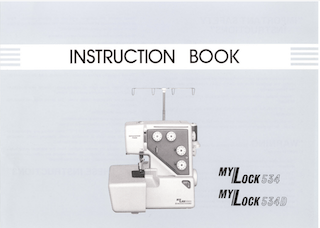 Janome Mylock 534 534D overlocker manual