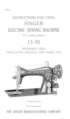 Singer 15-91 console desk sewing machine manual