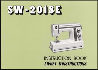 Janome Newhome SW-2018E manual