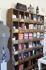 sewing fabric storage